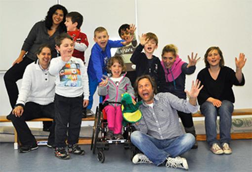 mimi Camp im Dr. von Haunscherschen Kinderspital: Gruppenfoto