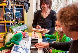mimi macht Musik im Dr. von Haunscherschen Kinderspital: Kiddy