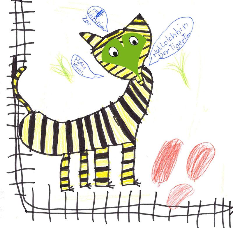 Tiger – Konstantin, 4 Jahre, und Marie, 7 Jahre (Gewinner August 2017)